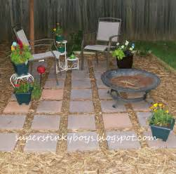 diy backyard patio cheap support blog for moms of boys diy backyard oasis