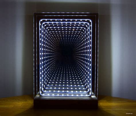 infinity mirror modern led infinity mirror table l 19 steps with