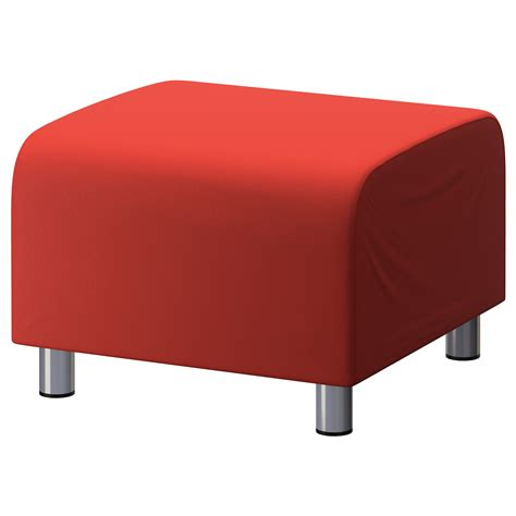 sofa footstool red cotton custom slip cover for ikea klippan footstool