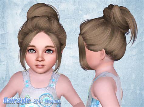 skysims hair toddler 209 i the sims 3 pinterest sims skysims hair 224 set