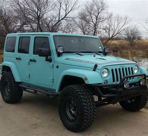 Blue Jeep Beautiful Colors And My On