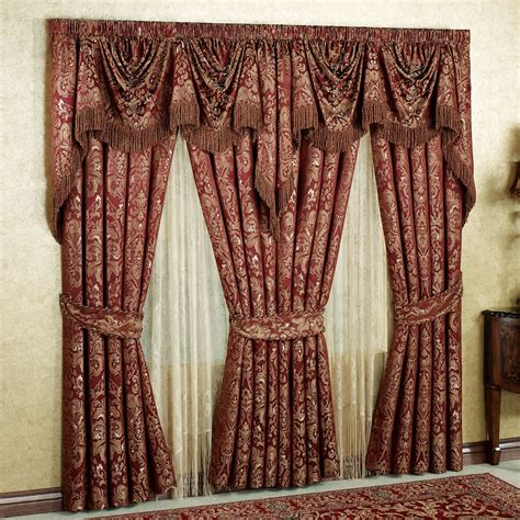 traditional style curtains palatial empire valance window treatment