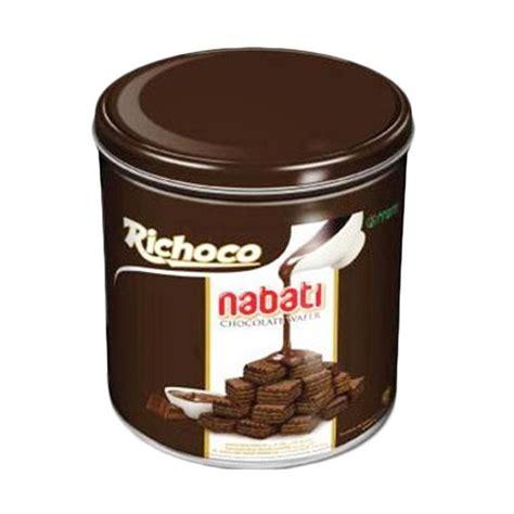 Wafer Nabati Rasa Cokelat 145gr jual richoco nabati cokelat wafer 350 g 6 kaleng
