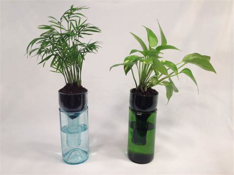 wine bottle planter self watering planter planter by