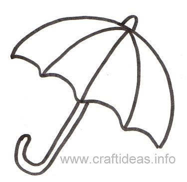 free printable umbrella template free printable crafts ideas patterns print out this