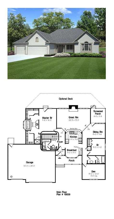 house plans with sunken living room ranch traditional house plan 10839 house plans contemporary house plans and bedrooms