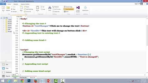 tutorial javascript button javascript changing text with button click youtube
