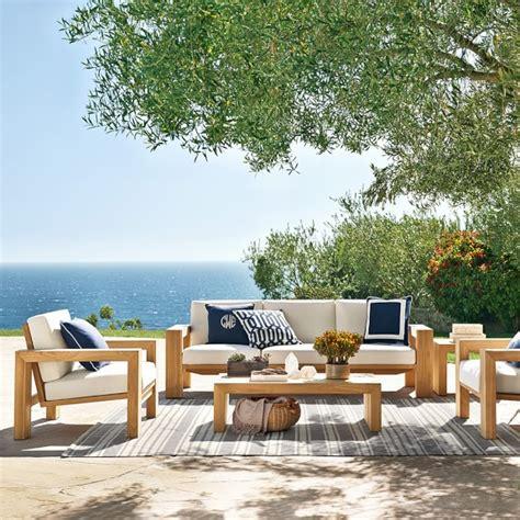 sonoma backyard larnaca outdoor teak sofa williams sonoma