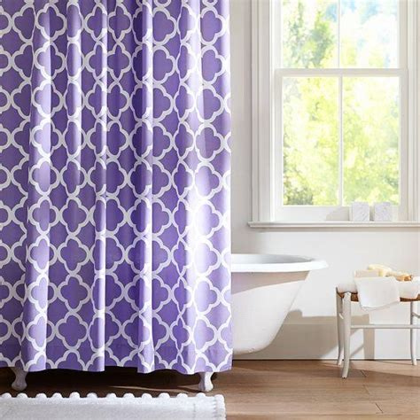 purple bathroom curtains lucky clover shower curtain purple pbteen