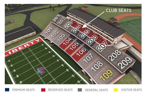 liberty vine center seating chart facilities overview liberty flames