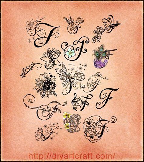 tattoo letter f 16 lettere f decorative e fantasiose nel poster