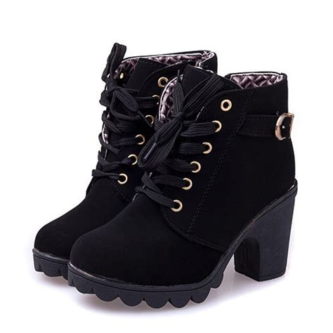stylish womens motorcycle boots new women pumps european pu leather boots ladies high heel