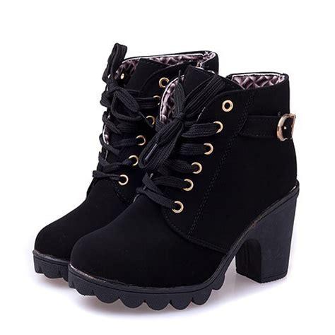 european shoes womens new pumps european pu leather boots high heel