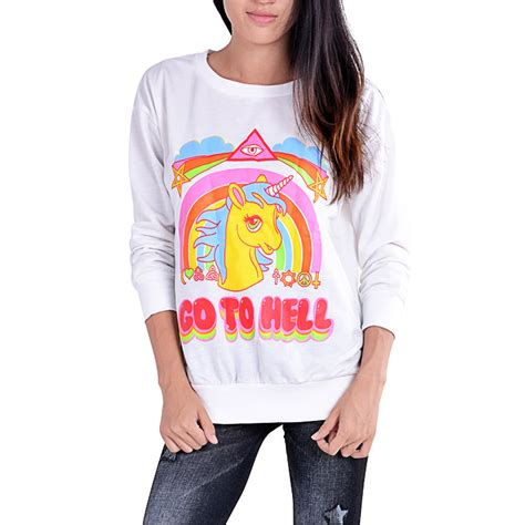unicorn sweater go to hell sugarsweet me