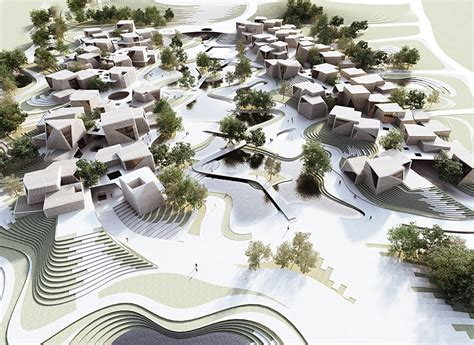commercial village model urban architecture masterplan commercial 2012