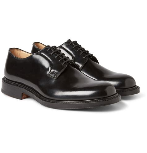 church shoes church s toronto leather semi brogue oxford shoes in black