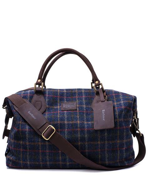 Laris Zada Weekender Bag Navy 1 barbour navy explorer tweed holdall weekender bag in blue for lyst