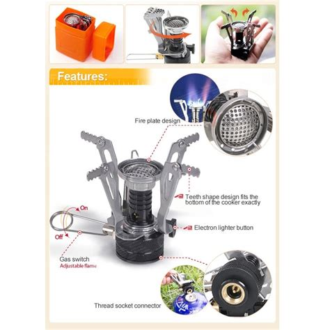 Kompor Portable Mini backpacking canister cing stove kompor gas portable