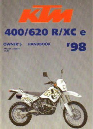 1996 Ktm 400 620 Sx Enduro Lc4 Motorcycle Owners Handbook