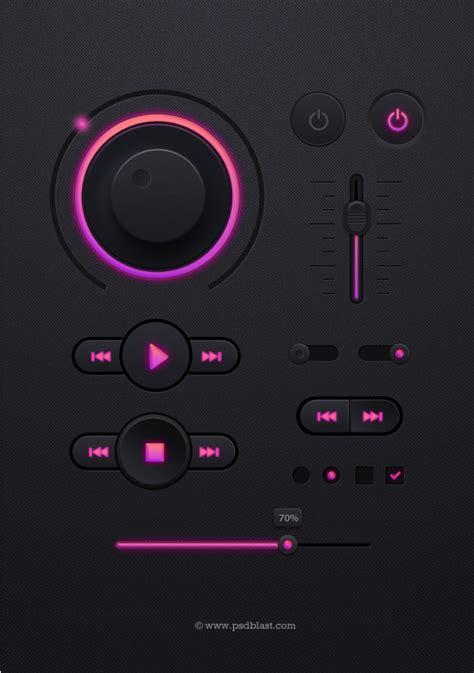ui controller pattern dark ui design psd ui elements pinterest ui design