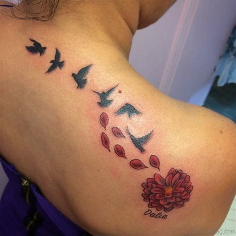 rose petals tattoo 68 birds designs for back