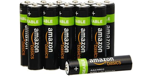 Amazonbasics Aaa by Printing Amazonbasics Aaa Rechargeable Batteries 12 Pack Only 11 99 Just 1 Per Battery