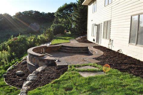 Patio Ideas On A Hill Circular Sunken Patio On A Hill Garden
