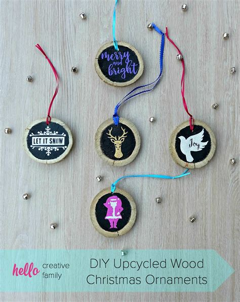 upcycled ornaments diy upcycled wood ornaments hello creative family