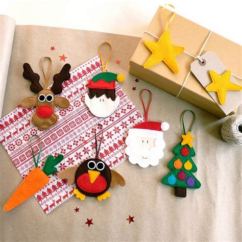 Ideas For Ornaments Handmade - felt ornaments awesome decoration for