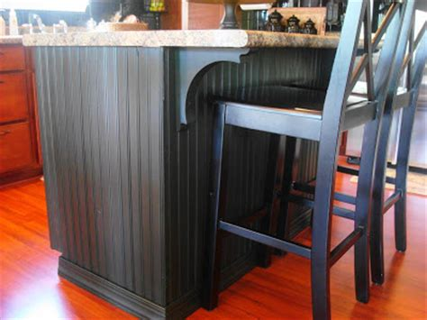 a beadboard kitchen island from thrifty decor