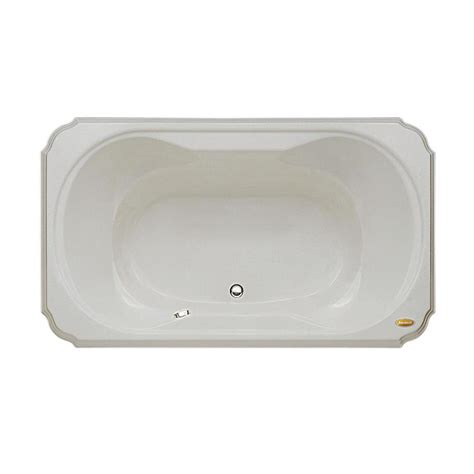 jacuzzi bathtubs lowes shop jacuzzi marineo 66 in oyster acrylic bathtub with