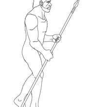 coloriages homo erectus qui fait du feu en frappant silex sur la pyrite fr hellokids