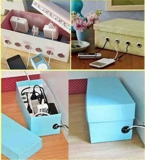 shoe box diy diy shoe box charging box organizer diy