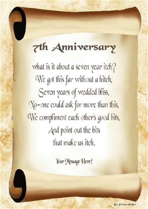 7th Wedding Anniversary Quotes For by Image Gallery Happy 7th Anniversary Poems