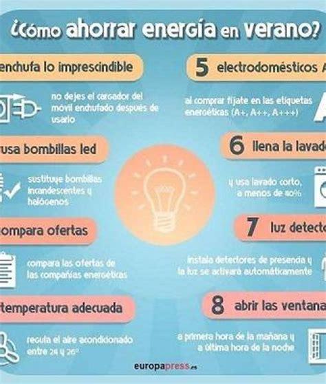 como ahorrar electricidad en casa consejos para ahorrar luz en casa en verano las provincias