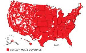 verizon 4g lte coverage map