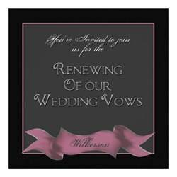 renewing wedding vows invitations banner 5 25 quot square invitation card zazzle