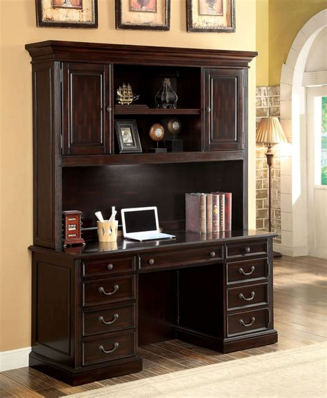 cherry desk with hutch coolidge cherry credenza desk with hutch from furniture of