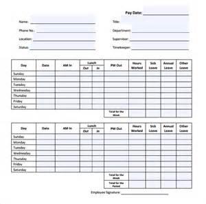 free employee timesheet template 17 free timesheet templates free sle exle format