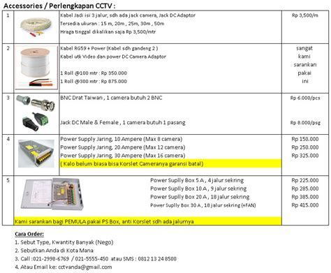 Harga Power Supply harga power supply accessories paket cctv