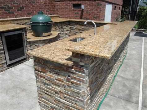 outdoor kitchen designs dazzling u shaped outdoor kitchen designs with sunset gold granite
