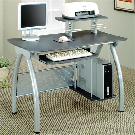 Desks Contemporary Computer Desk With Keyboard Tray And