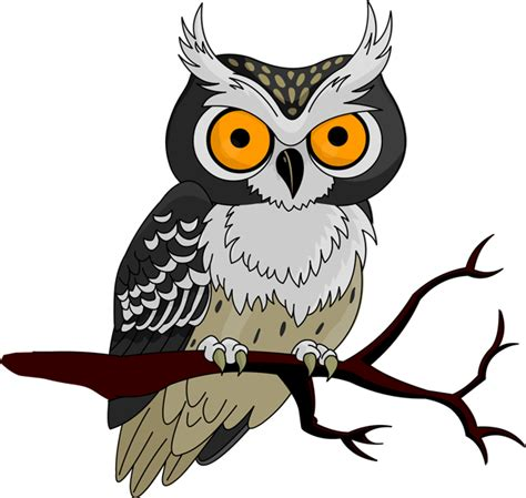printable scary owl halloween owl clip art clipart best