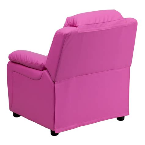 pink recliner chair flash furniture deluxe heavily padded contemporary hot