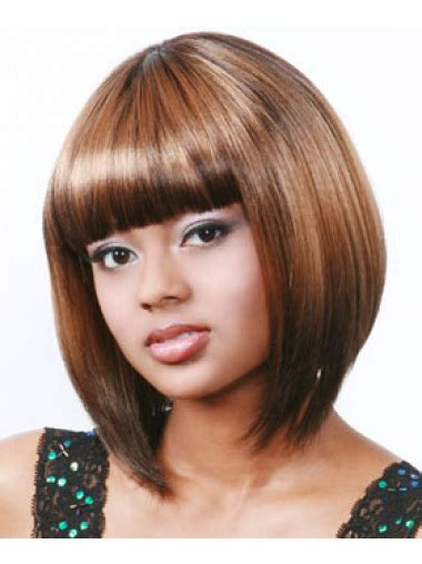 chin length hairstyles for ethnic hair faddish auburn straight chin length african american wigs