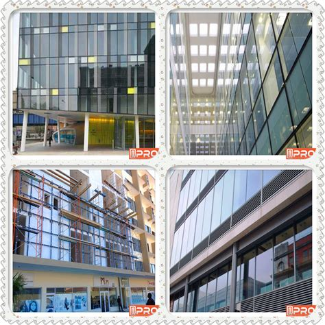glass curtain wall cost aluminum alloy frame structural glass curtain wall glass