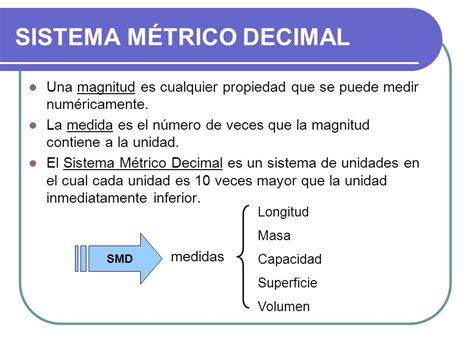 sistema internacional de medidas sistema metrico decimal unidad 4 medidas y magnitudes ppt video online descargar
