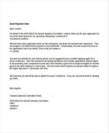 Rejection Letter Grant 6 Grant Rejection Letters Free Sle Exle Format
