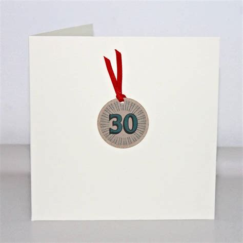 Handmade 30th Birthday Cards - handmade 30th birthday card by chapel cards