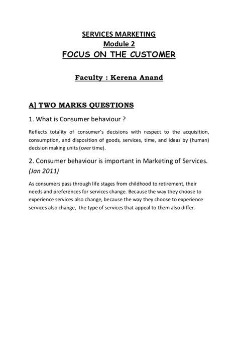 Mba Services Marketing Notes by Services Marketing Notes